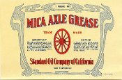 Standard Oil of California mica axel grease paper label