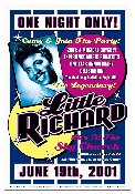 Little Richard at EMP - Seattle 2001 poster/handbill set signed