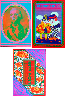 Neon Rose posters 13,15 and 17 - Moscoso