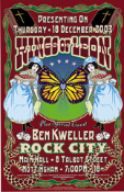 Kings of Leon poster / hanbill (set) * Rock City UK 2003