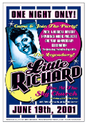 Little Richard poster/handbill * EMP - Seattle 2001 *