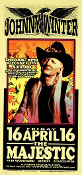 Johnny Winter handbill * Majestic 1999 - Arminski