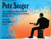 Pete Seeger - UC Berkeley 1970 * Thomas Morris Art Print