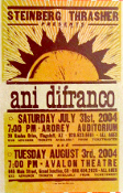 Ani Difranco 2004 AZ CO shows HatchShow Print
