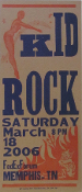 Kid Rock,poster,Memphis,2006,Hatch Show Print