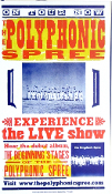Polyphonic Spree,Experience The Live show,poster,Hatch Show Prin