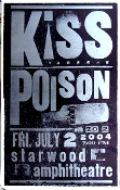 Kiss Poison poster Starwood 2004 Hatch Show Print (SOLD)