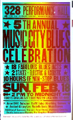 Music City Blues Celebration,5th 1996 Hatch Show Print