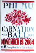 PHI MU,Carnation Ball 2004,Hatch Show Print