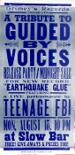 Guided By Voices tribute by Teenage FBI 2003,Hatch Show Print