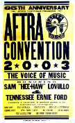 AFTRA Convention 2003,Nashville,Hatch Show Print