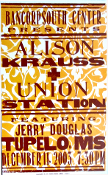 Alison Krauss + Union Station,Tupelo, MS,Hatch Show Print