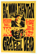 (37) Grateful Dead * Big Mama Thornton, UC Davis 1967,13x19 Art