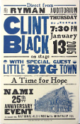 Clint Black NAMI 25th Ryman Aud 2004 Hatch Show Print