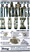 Memphis RiverKings 2004-05 schedule poster Hatch Show Print