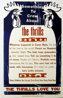 The Thrills Something to Crow About 2004 Hatch Show Print