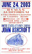 John Ashcroft Attorney General Ryman Aud 2003 Hatch Show Print