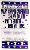 Mary Chapin Carpenter 2003 Tour Acoustic Evening Hatch Show Prin
