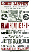 Railroad Earth 2001 Stanhope House NJ Hatch Show Print