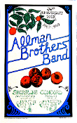 Allman Bros Band 30th Anniv poster Shoreline Concord 1999