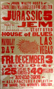 Jurassic 5 House Of Blues Mandalay Bay Vegas Hatch Show Print