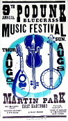 Podunk Bluegrass Music Festival East Hartford Hatch Show Print