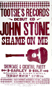John Stone Shame On Me CD debut 2004 Hatch Show Print sold