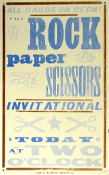 Rock Paper Scissors Invitational 2004 Hatch Show Print