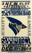 Junction City HS Marching Band 12-31-04 Hatch Show Print
