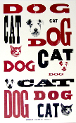 Dog Cat Hatch Show Print 2003
