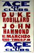 Duke Robillard John Hammond Ace Of Clubs 1996 letterpress