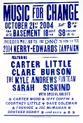 Music For Change 2004 Kerry-Edwards Hatch Show Print