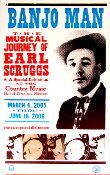 Earl Scruggs Banjo Man Exhibit 2005-6 Hatch Show Print