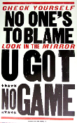 U GOT NO GAME 2006 Hatch Show Print