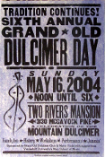 Dulcimer Day 6th Annual Two Rivers Mansion 2004 Hatch Show Print