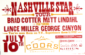 Nashville Star Tour 2004 Brad Cotter Matt Lindahl Hatch Show Pri