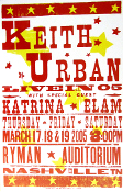 Keith Urban Live In 05 Katrina Elam Ryman Hatch Show Print
