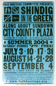 Shindig On The Green Folk Heritage 2004 Hatch Show Print