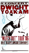 "Dwight Yoakam ""Watch Out"" Tour '06 blank Hatch Show Print"