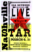 Nashville Star USA Network Live 2004 Hatch Show Print
