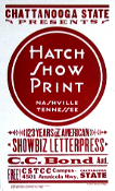 Chattanooga State Presents Hatch Show Print 2002