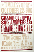 Grand Ole Opry 80th Anniversary Show Series Hatch Show Print