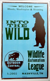 Into The Wild 2005 Wildlife Automation League Hatch Show Print