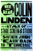 Colin Linden 2005 Easin Back To Tennessee Hatch Show Print
