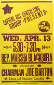 Rep Marsha Blackburn 2005 Joe Barton Hatch Show Print