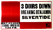 3 Doors Down Breaking Benjamin 2005 Hatch Show Print SOLD