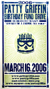 Patty Griffin Birthday Fund Drive VVAF'S 2006 Hatch Show Print