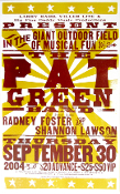 Pat Green Band 2004 Ruston, LA Hatch Show Print