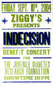Indecision Ziggy's Benefit 2004 Hatch Show Print