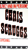 Chris Scruggs Live! And In Person 2005 Tour Blank Hatch Show Pr